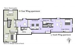East wing apartment is situated in 16th century part of Swafield Hall