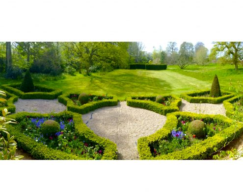 Parterre garden available for holiday accommodation guests at Swafield Haaa